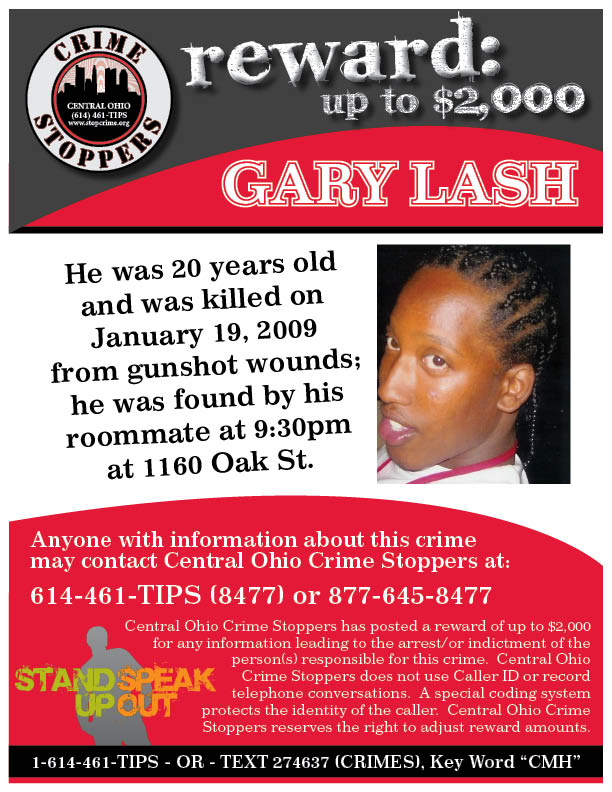 Flyers - Central Ohio Crime Stoppers