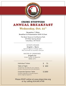 Save the Date: Annual Breakfast October 21, 2015
