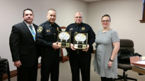 Airport Police Department Sgt. Frank Stroud and Officer Chris Baughman are February Officers of the Month